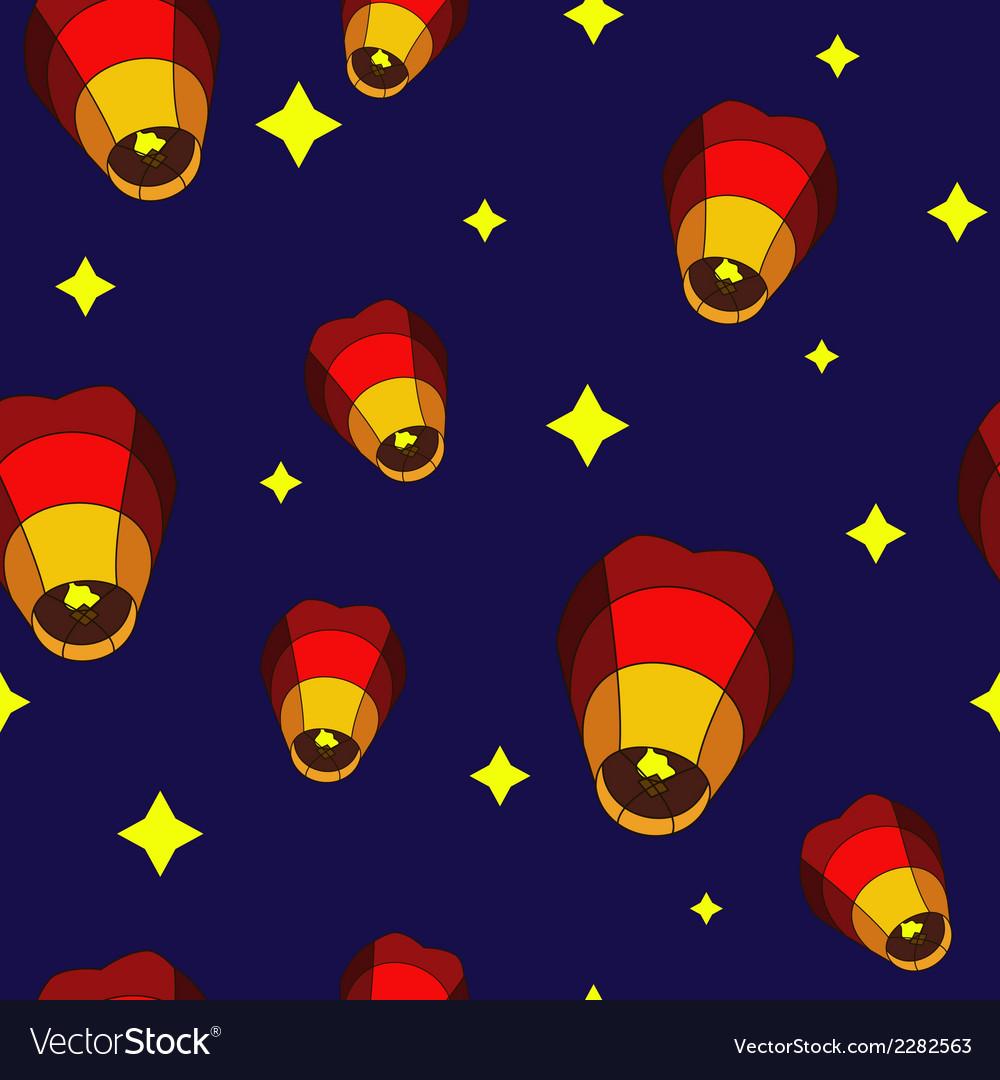 Lanterns pattern vector | Price: 1 Credit (USD $1)