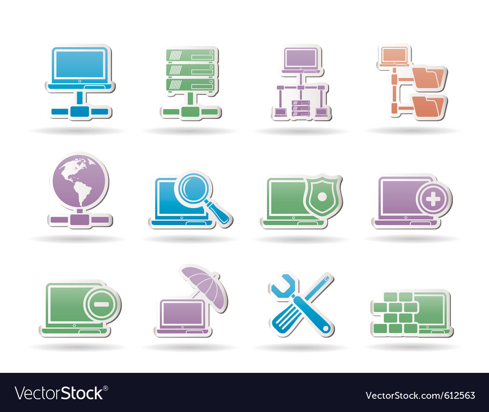 Server and hosting objects vector | Price: 1 Credit (USD $1)