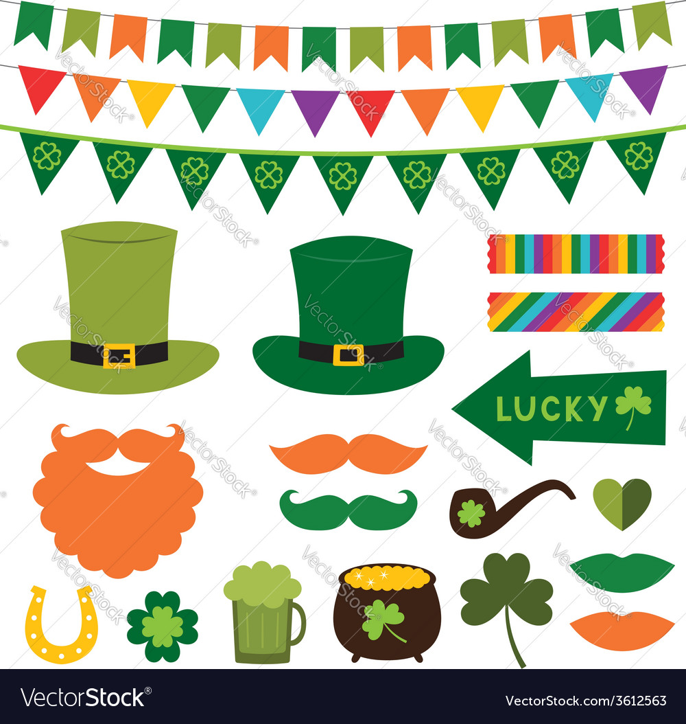 St patricks day design elements vector | Price: 1 Credit (USD $1)