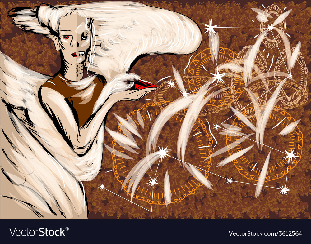 Angel of time vector | Price: 1 Credit (USD $1)