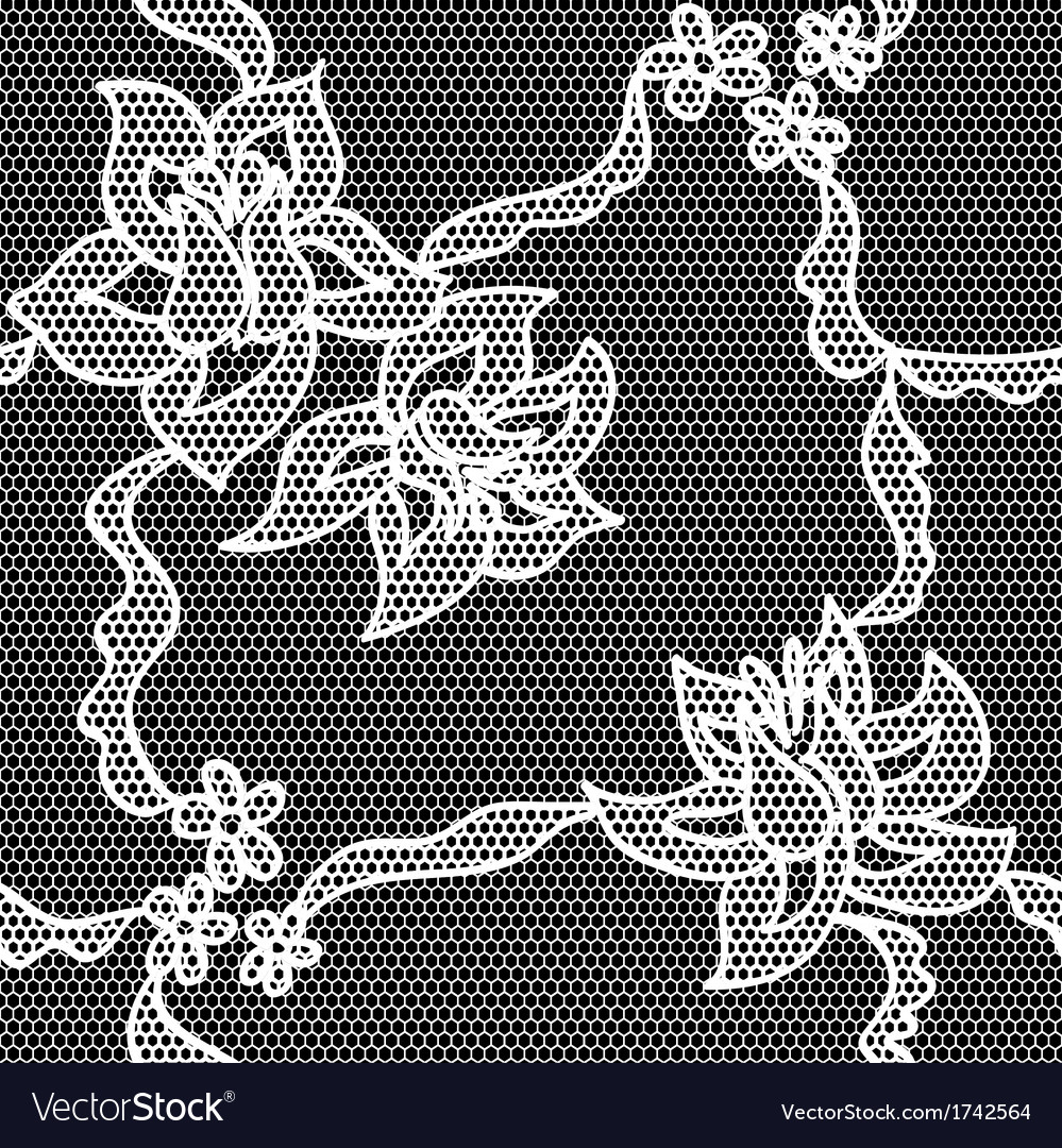Black lace fabric seamless pattern vector   Price: 1 Credit (USD $1)