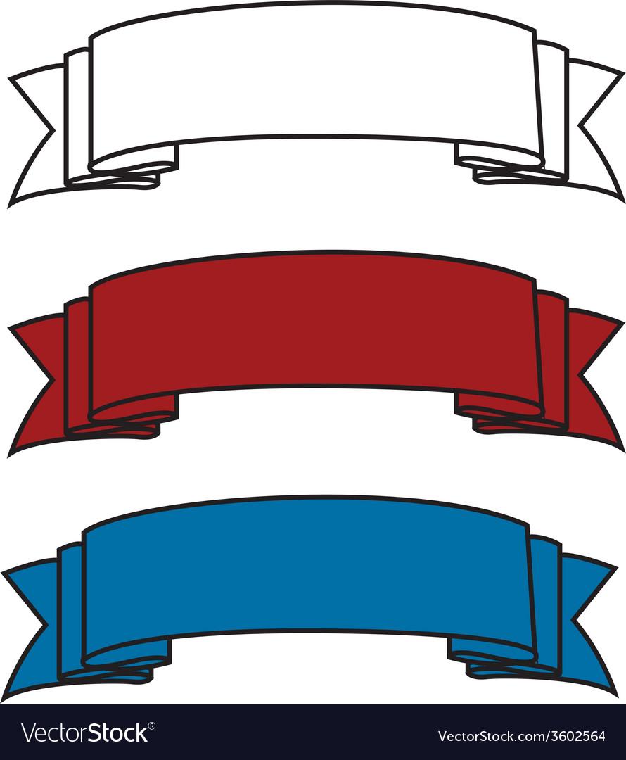 Celebratory ribbons vector | Price: 1 Credit (USD $1)