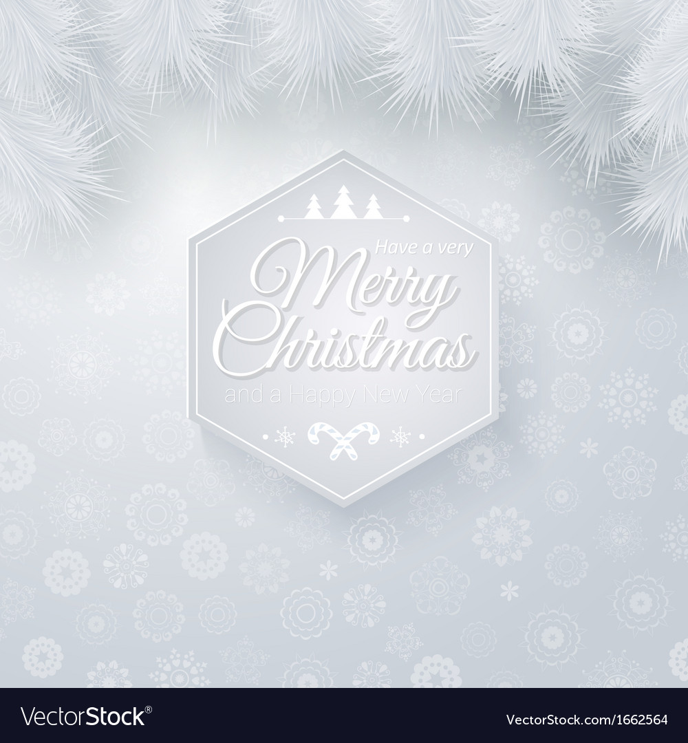 Christmas and new years card in cutout paper style vector | Price: 1 Credit (USD $1)