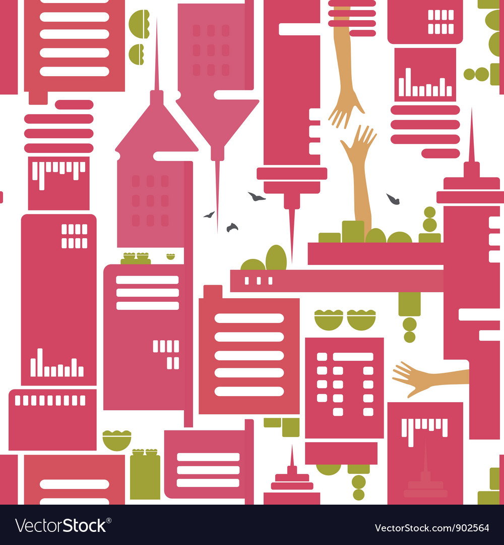 Cityscape pattern vector | Price: 1 Credit (USD $1)
