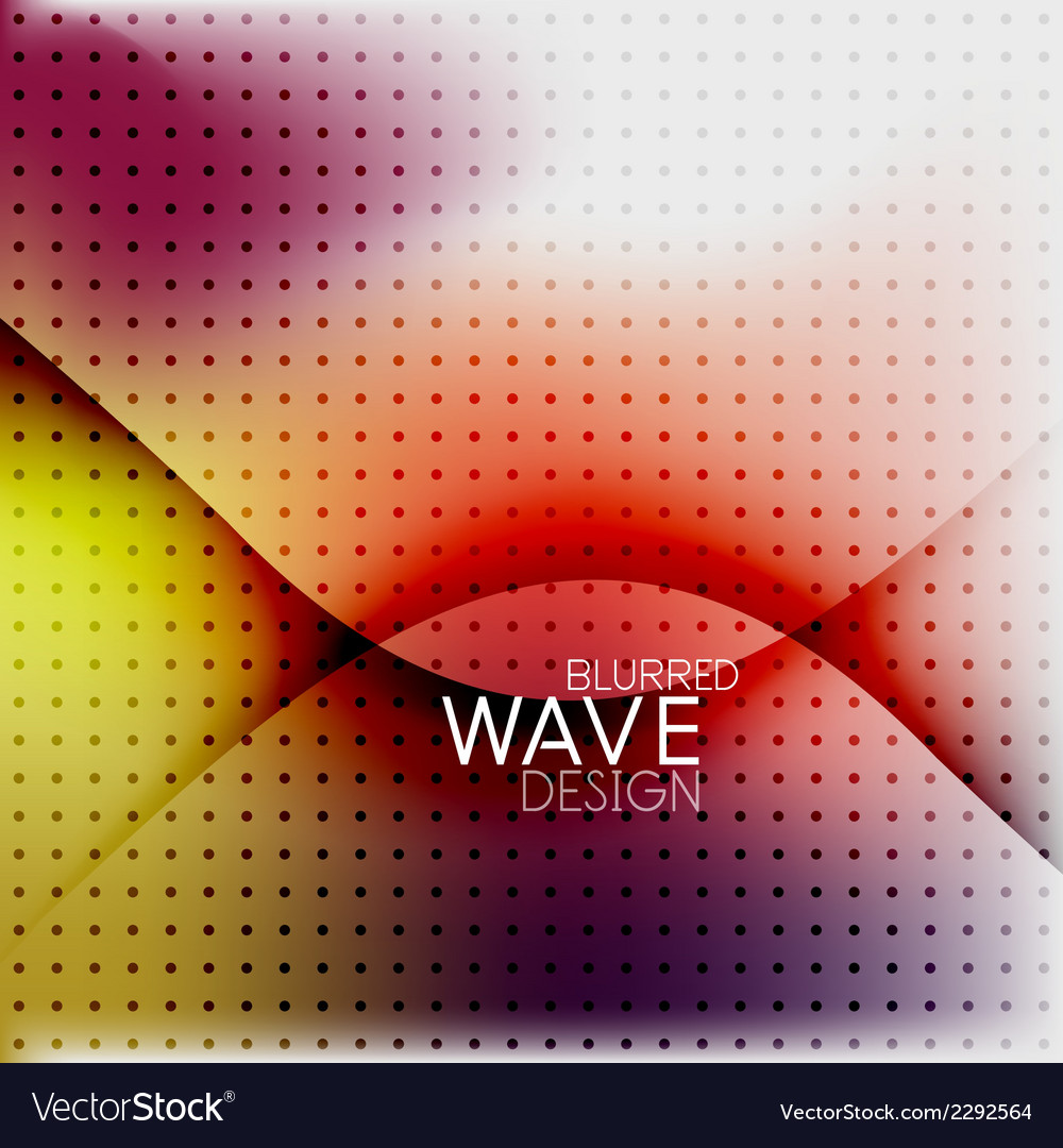 Colorful blurred wave business background vector | Price: 1 Credit (USD $1)