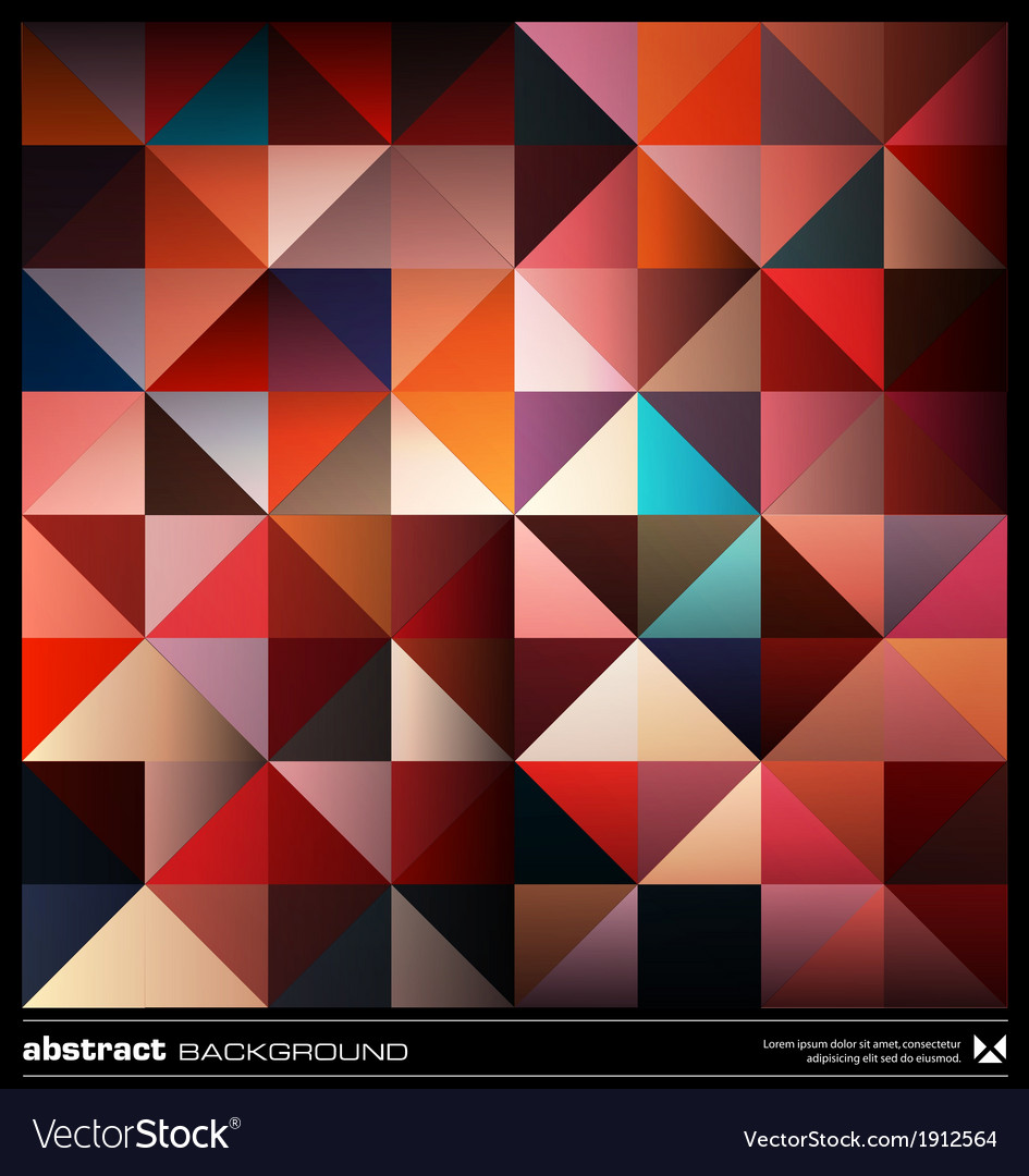 Colorful triangles background vector | Price: 1 Credit (USD $1)
