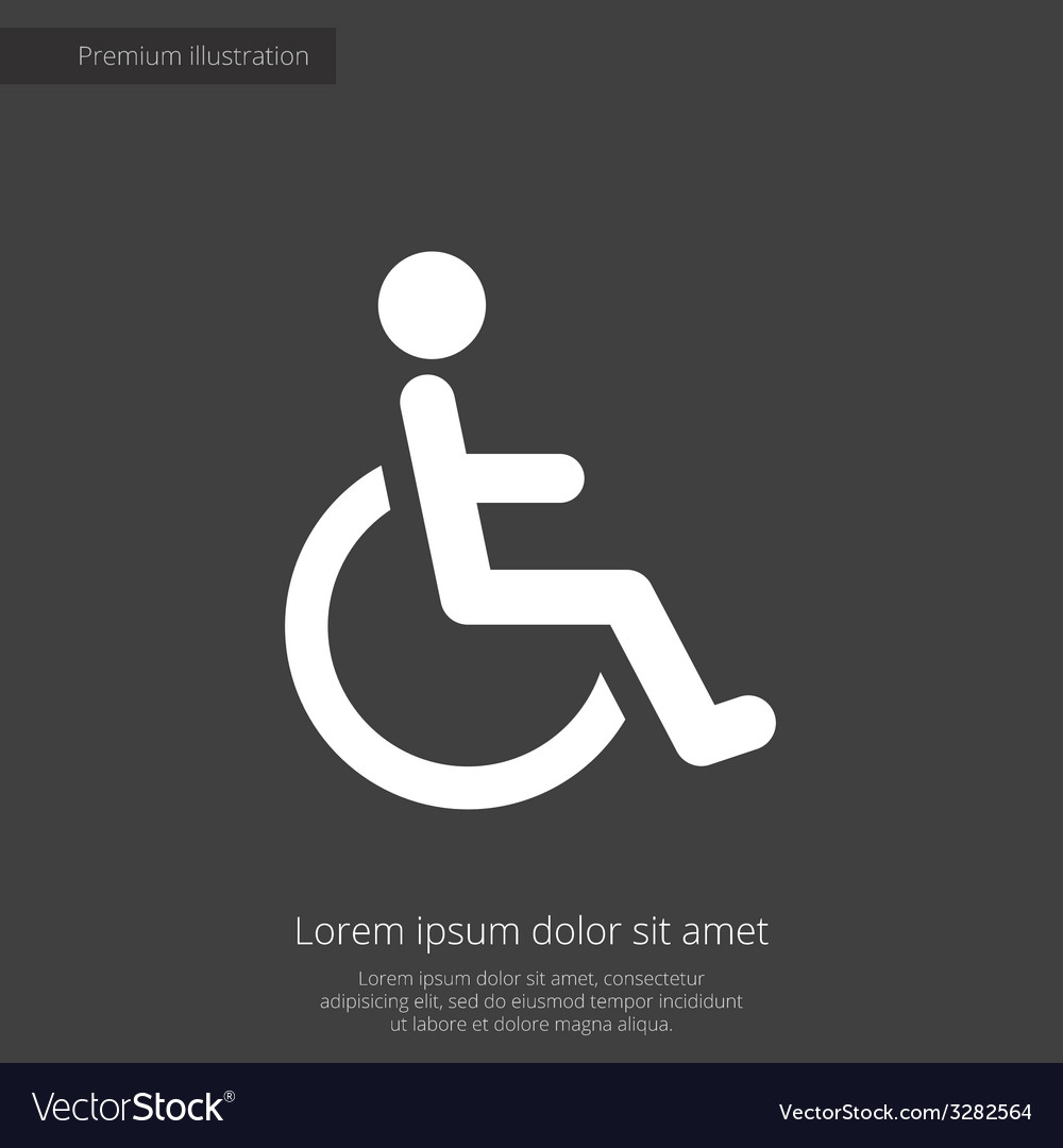 Cripple premium icon white on dark background vector | Price: 1 Credit (USD $1)