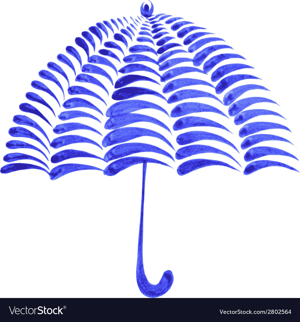 Decorative ornament umbrella vector | Price: 1 Credit (USD $1)