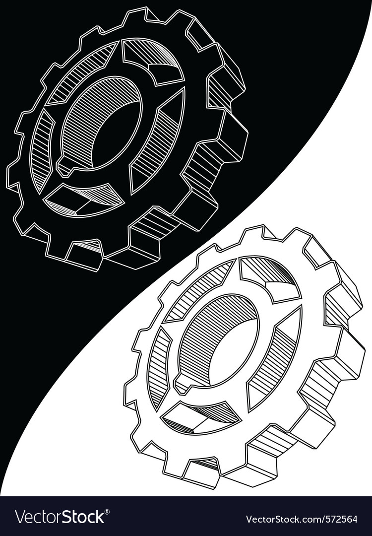 Engine gear vector | Price: 1 Credit (USD $1)