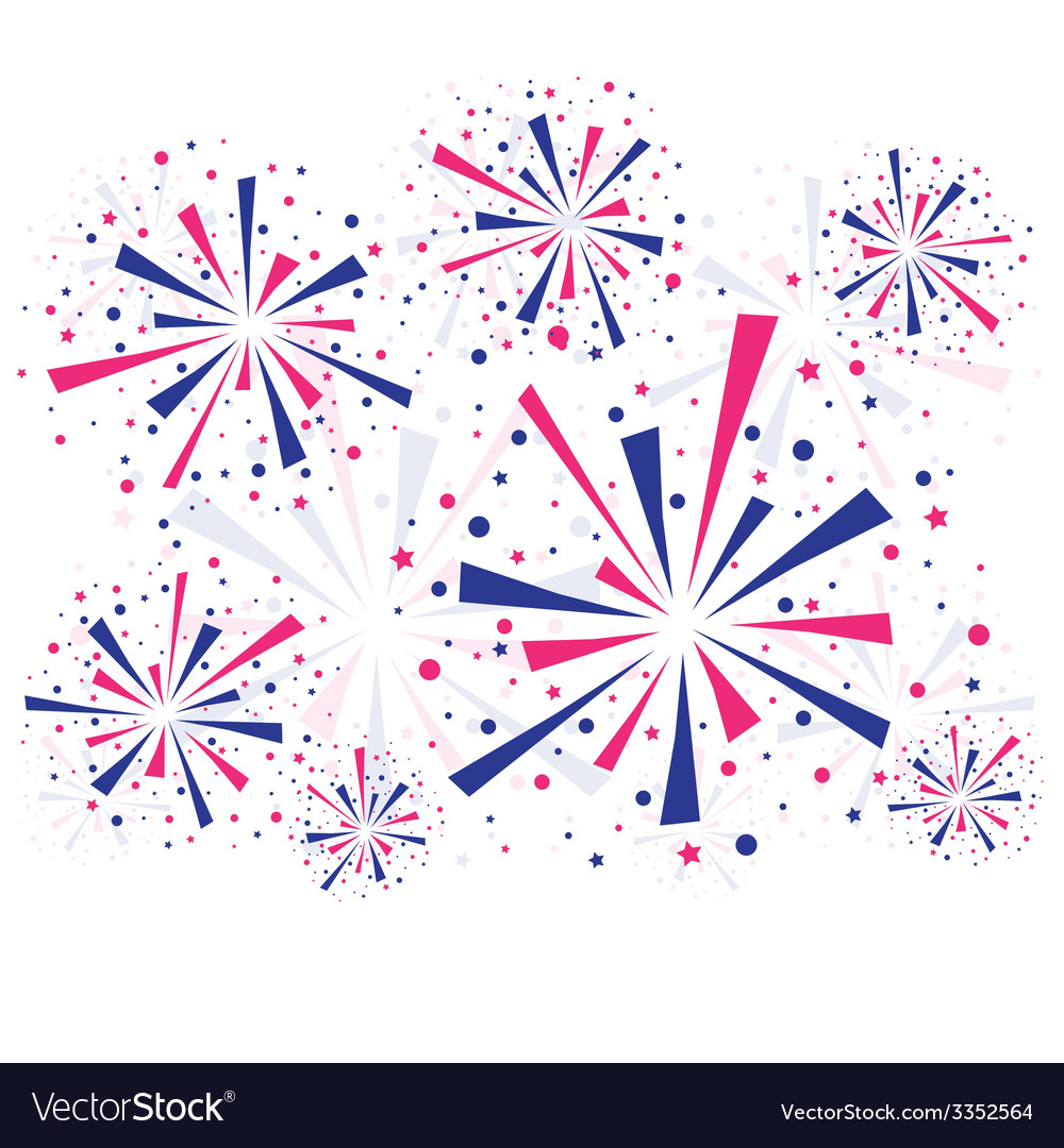 Fireworks on white vector | Price: 1 Credit (USD $1)