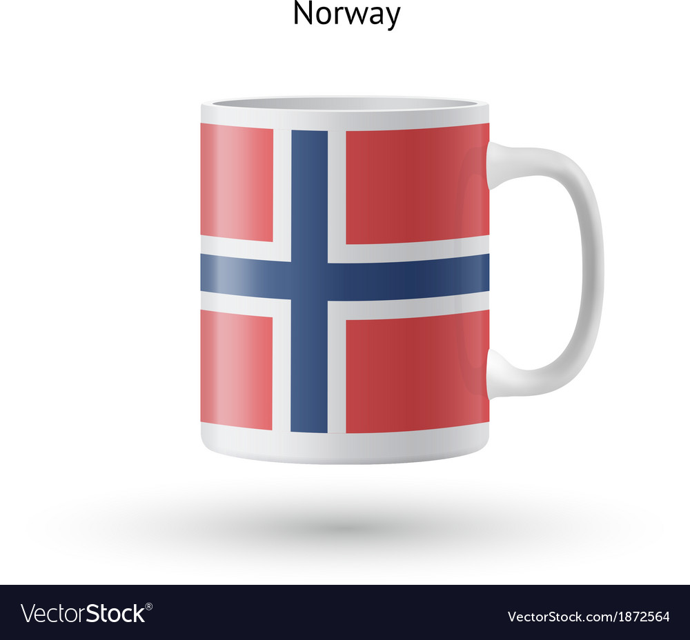 Norway flag souvenir mug on white background vector | Price: 1 Credit (USD $1)