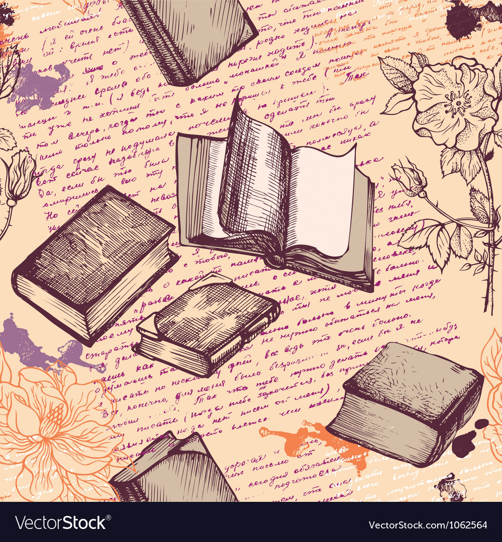 Old books vector | Price: 1 Credit (USD $1)