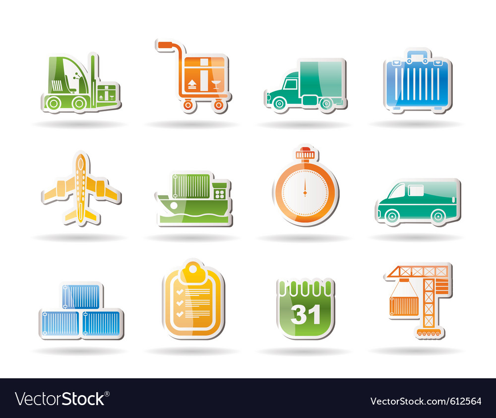 Shipping and transportation vector | Price: 1 Credit (USD $1)