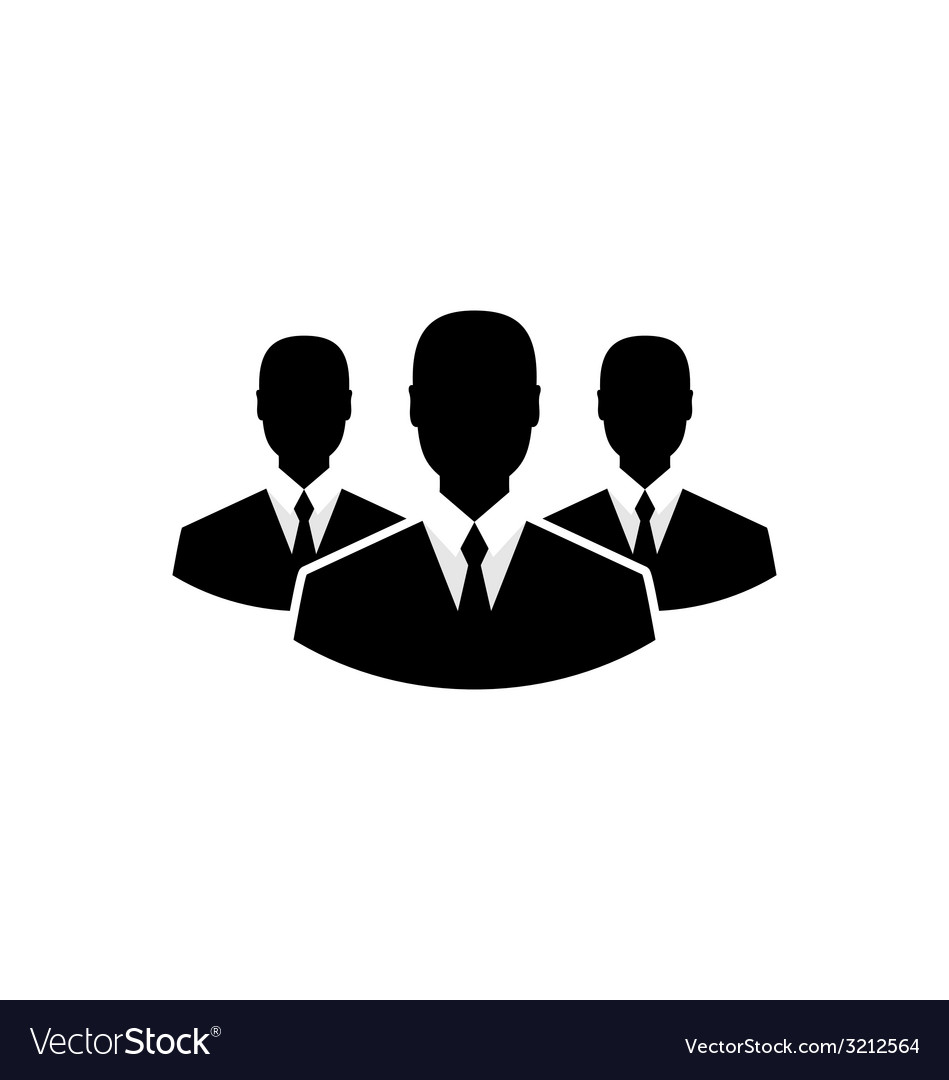 Team icon community business people - vector | Price: 1 Credit (USD $1)