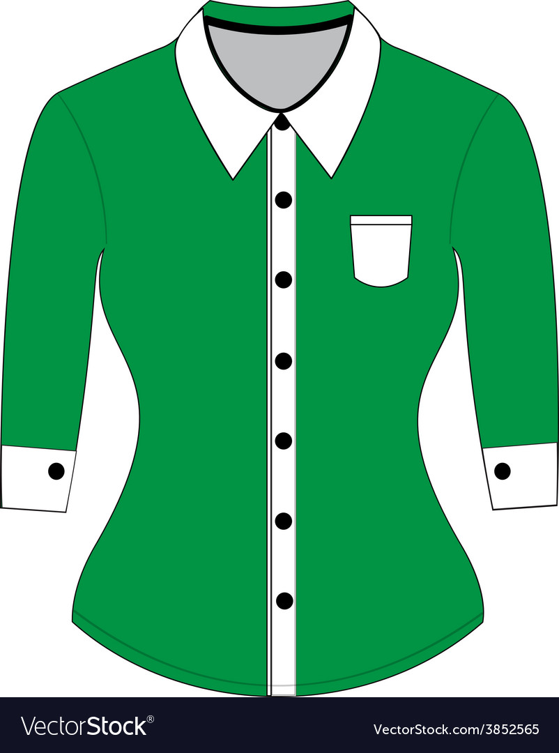 Blank shirt with long sleeves template vector   Price: 1 Credit (USD $1)