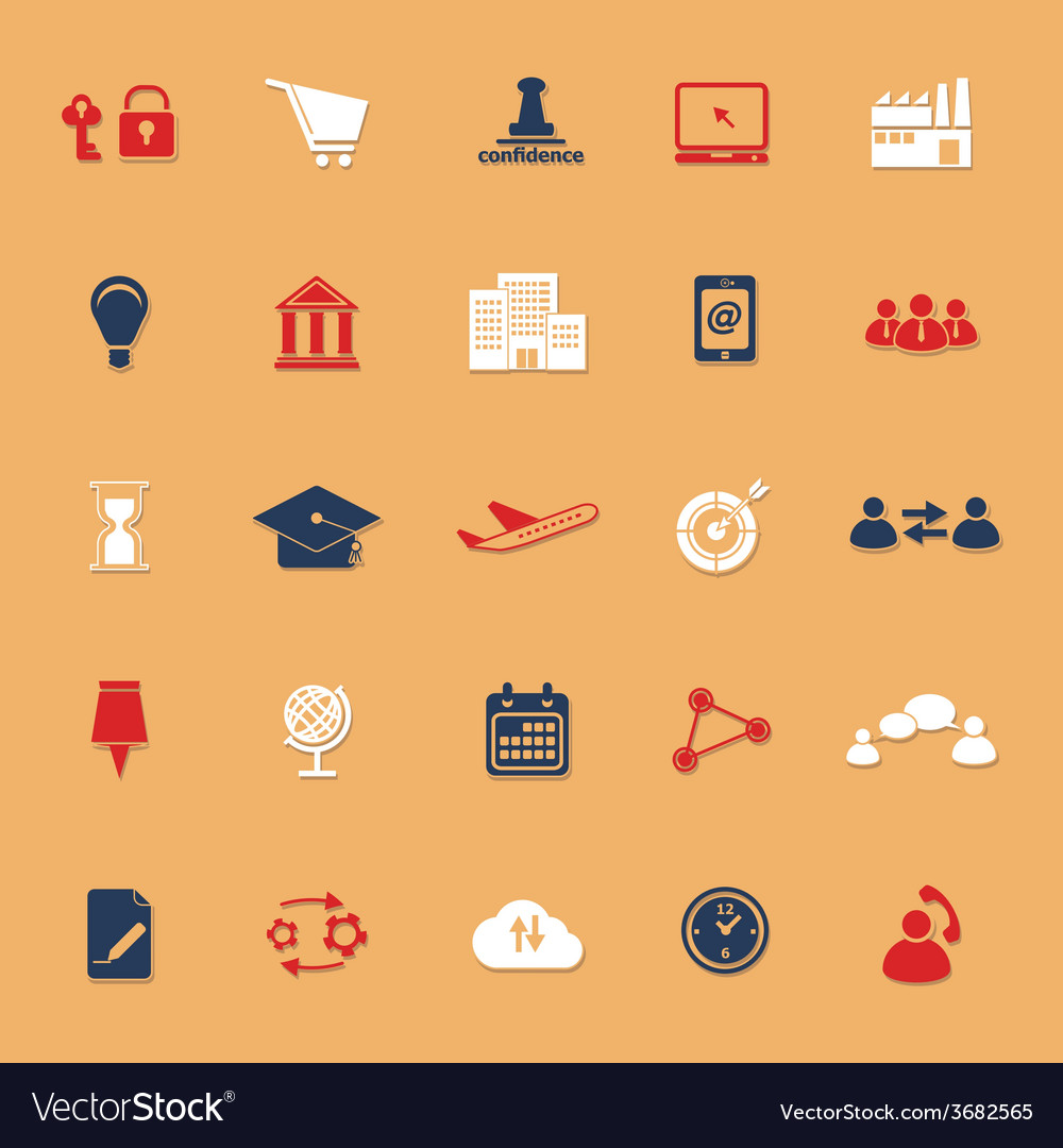 Business connection classic color icons with vector | Price: 1 Credit (USD $1)