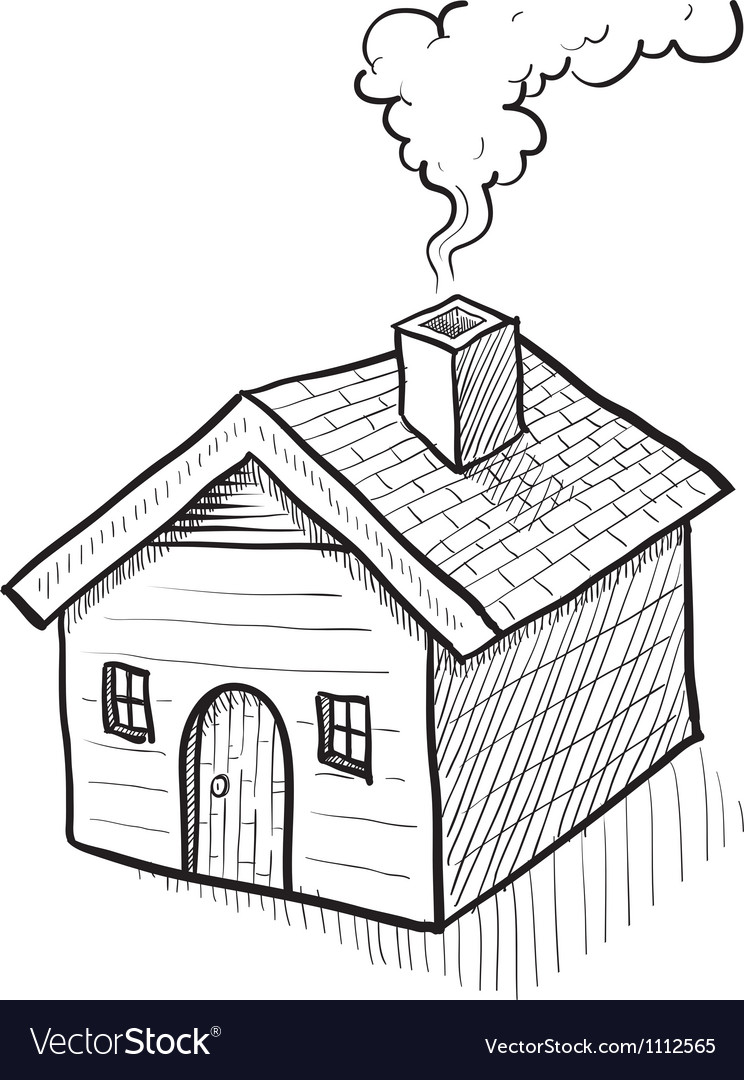 Doodle house home vector | Price: 1 Credit (USD $1)