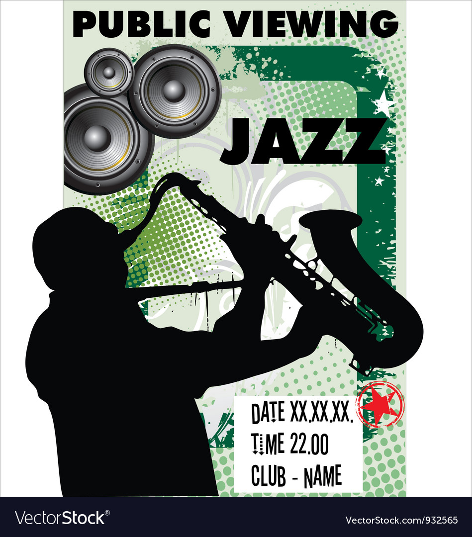 Jazz background - public viewing vector | Price: 1 Credit (USD $1)