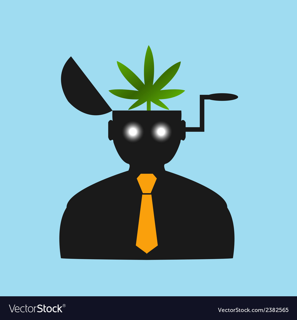 Man thinks about drugs abstract vision vector | Price: 1 Credit (USD $1)