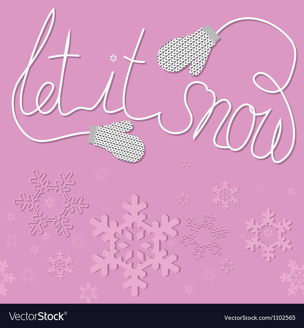 Mittens snow vector   Price: 1 Credit (USD $1)