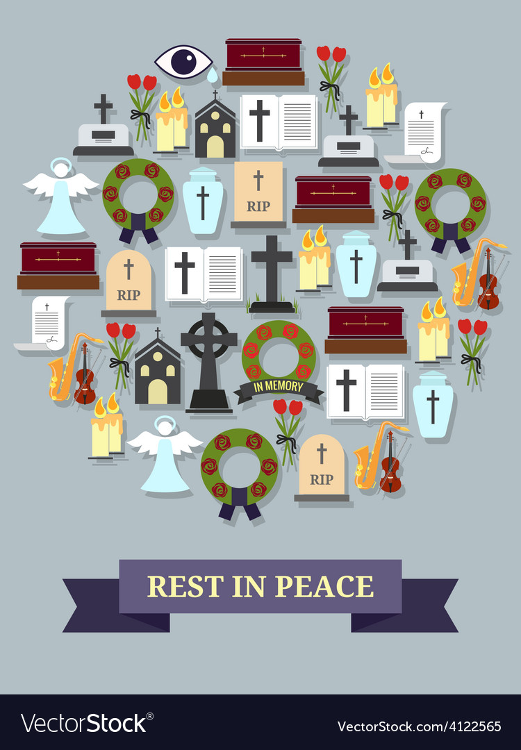 Rest in peace sign vector | Price: 1 Credit (USD $1)