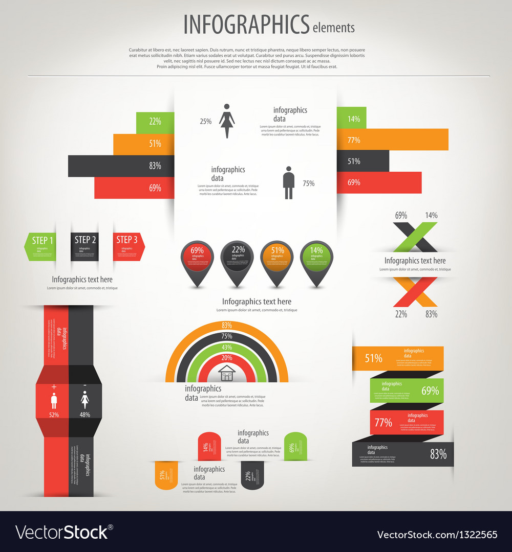 Retro infographics vector | Price: 1 Credit (USD $1)
