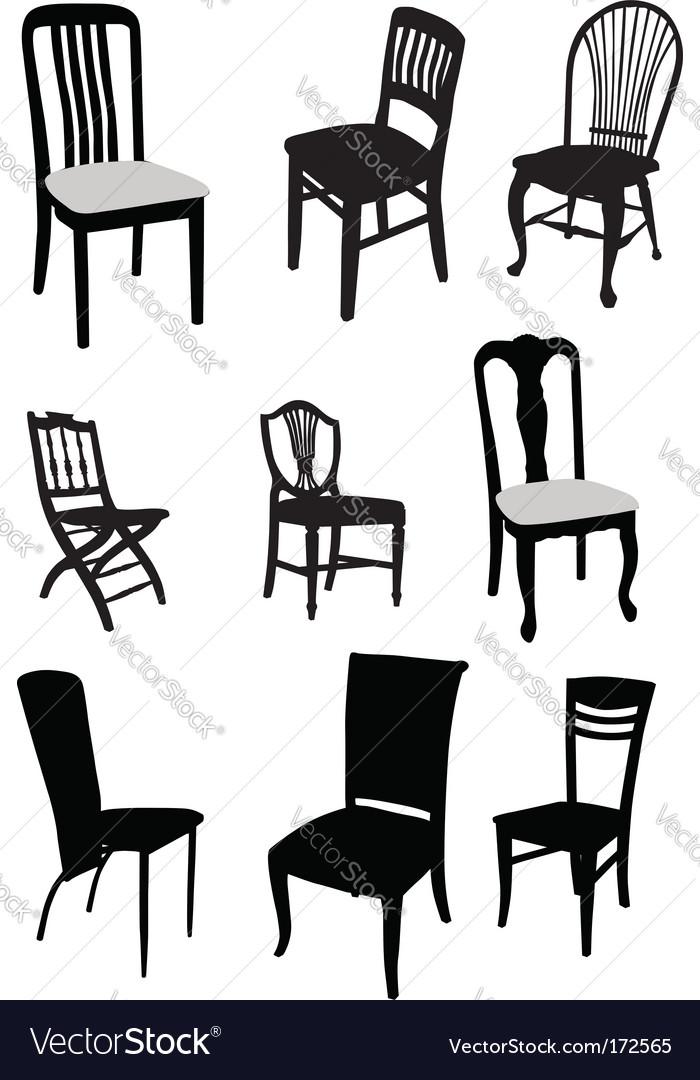 Set of antique furniture vector | Price: 1 Credit (USD $1)