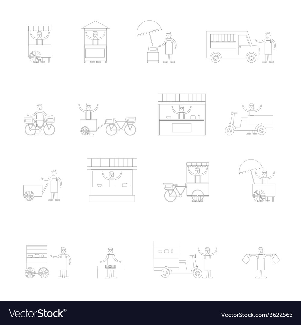 Street food icon outline vector | Price: 1 Credit (USD $1)