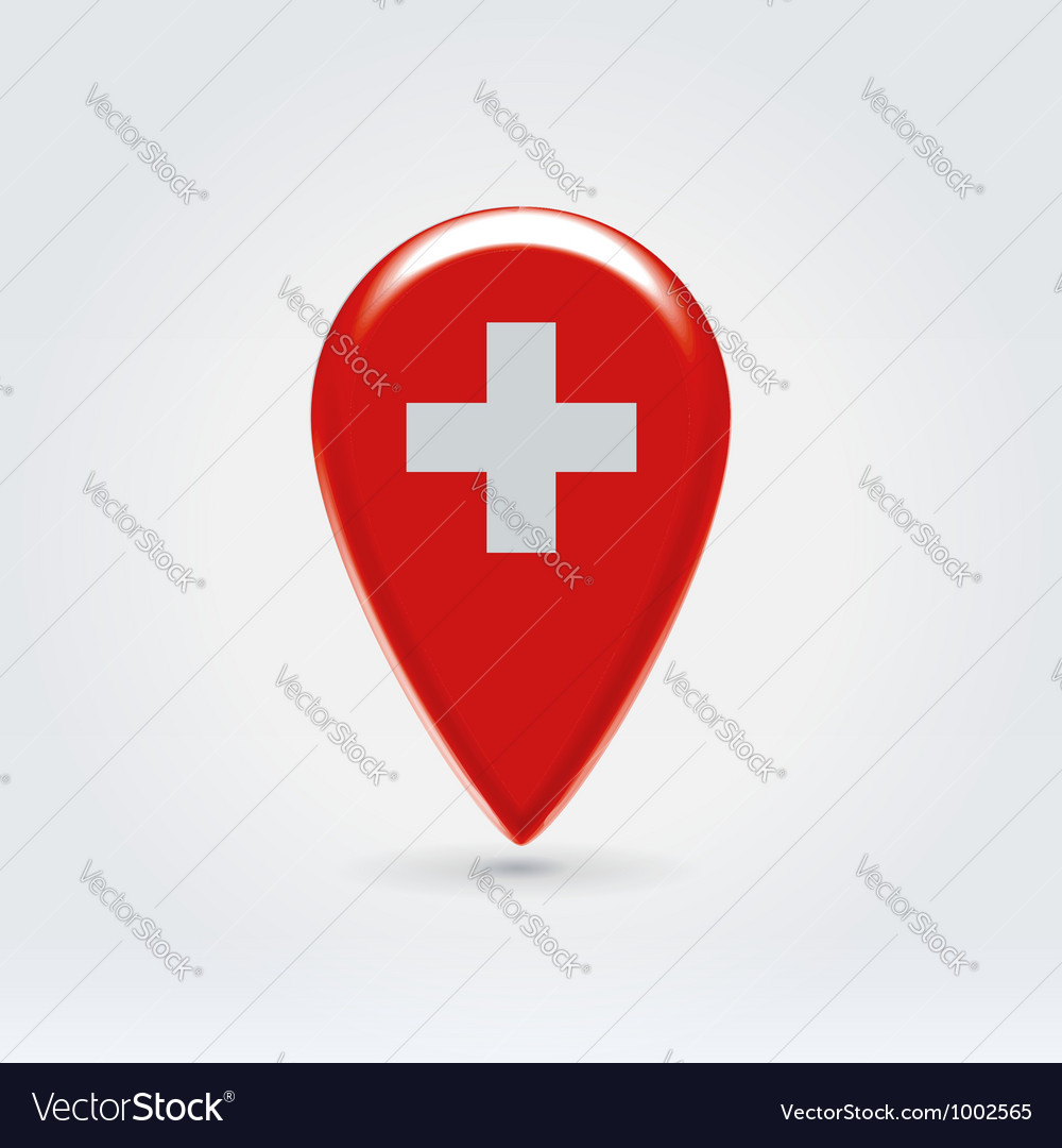 Swiss icon point for map vector | Price: 1 Credit (USD $1)