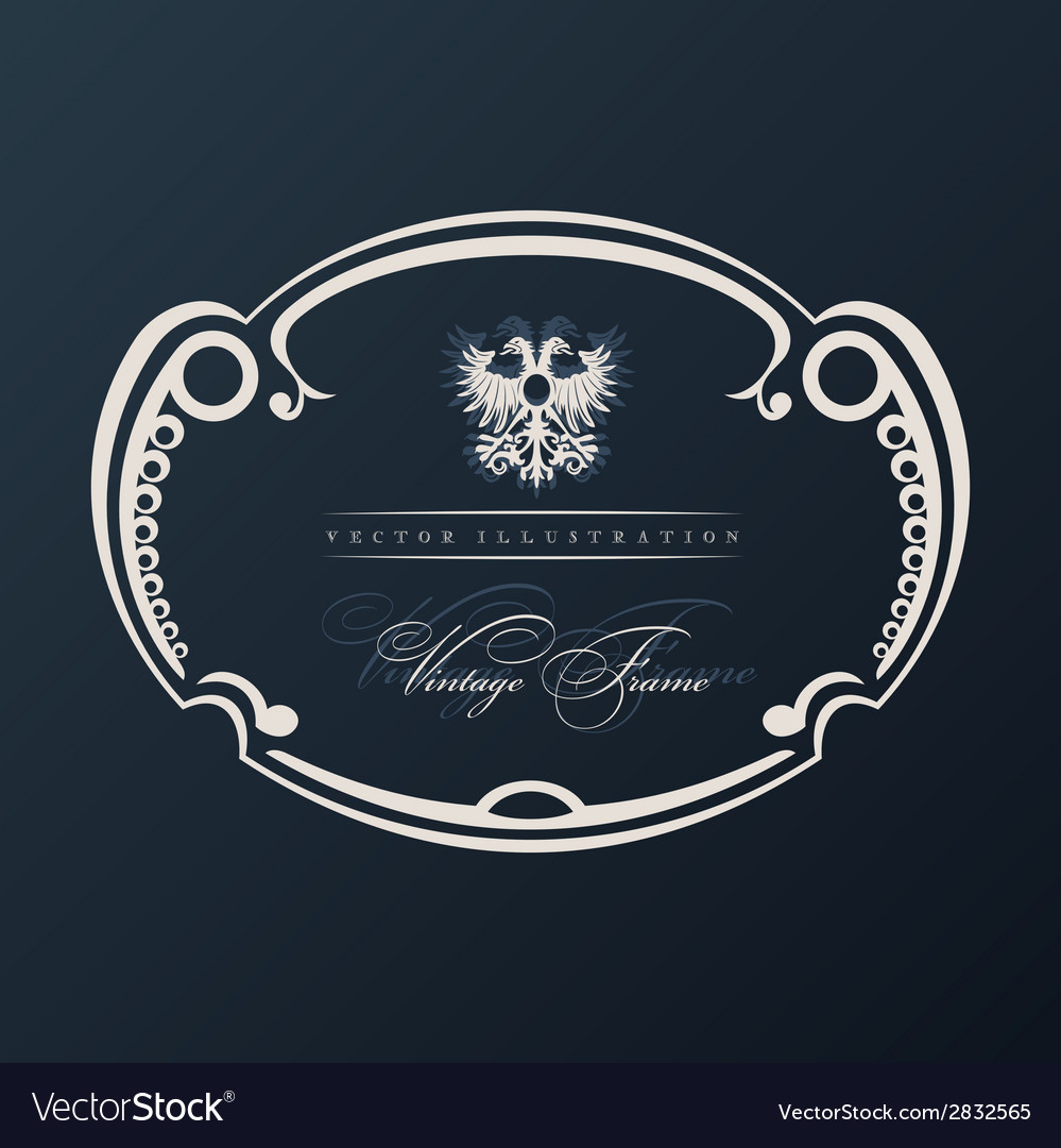 Vintage frame with ornament vector | Price: 1 Credit (USD $1)