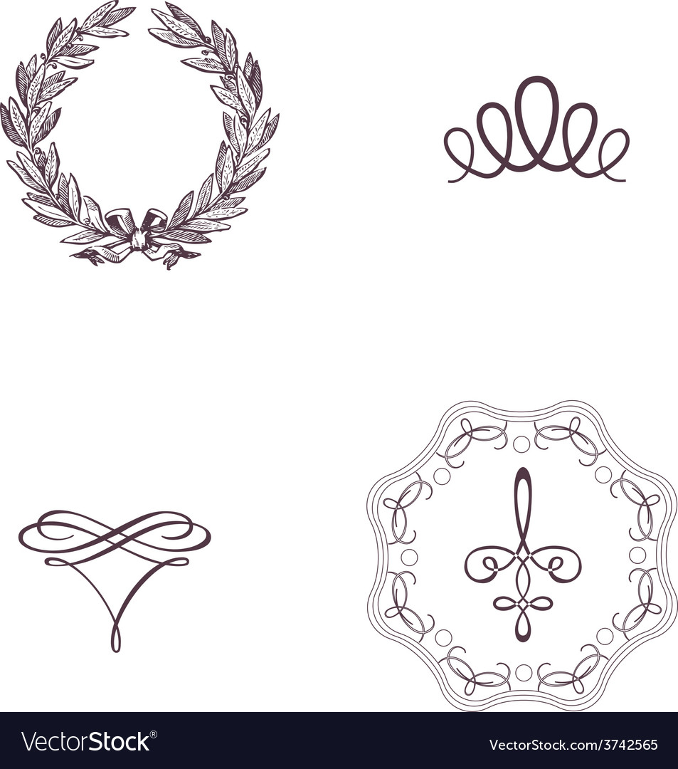 Vintage symbol vector | Price: 1 Credit (USD $1)