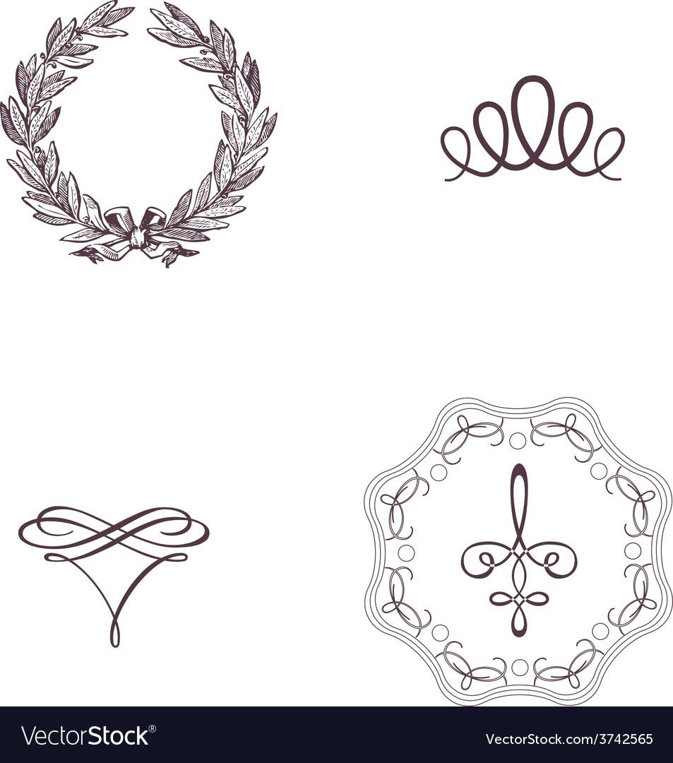 Vintage symbol vintage print mythology design vector | Price: 1 Credit (USD $1)
