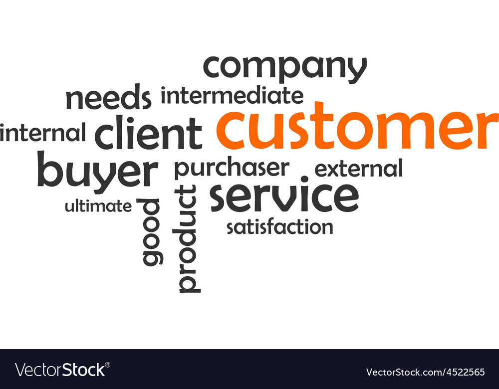Word cloud customer vector | Price: 1 Credit (USD $1)