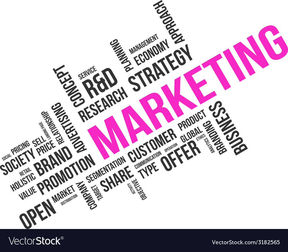 Word cloud marketing vector | Price: 1 Credit (USD $1)