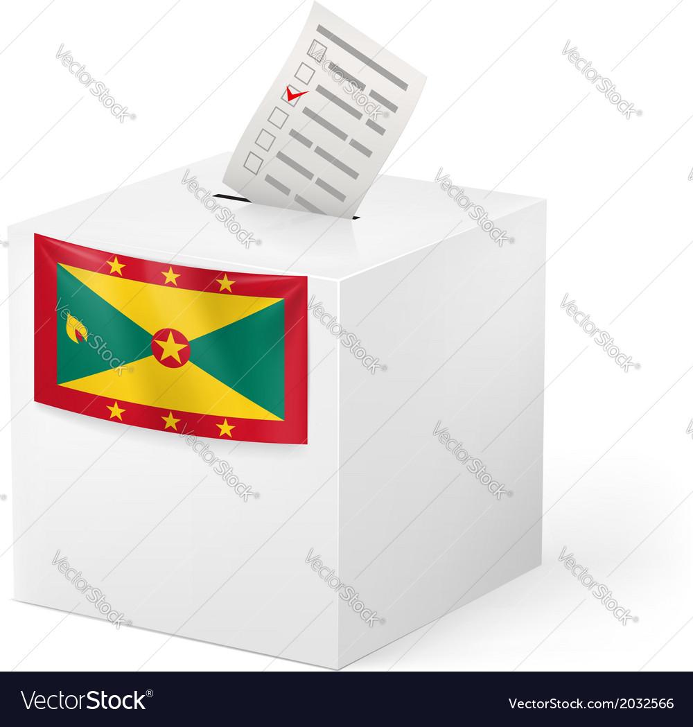 Ballot box with voting paper grenada vector | Price: 1 Credit (USD $1)