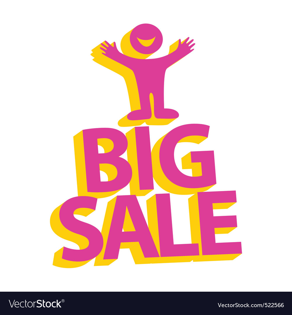 Big sale vector | Price: 1 Credit (USD $1)