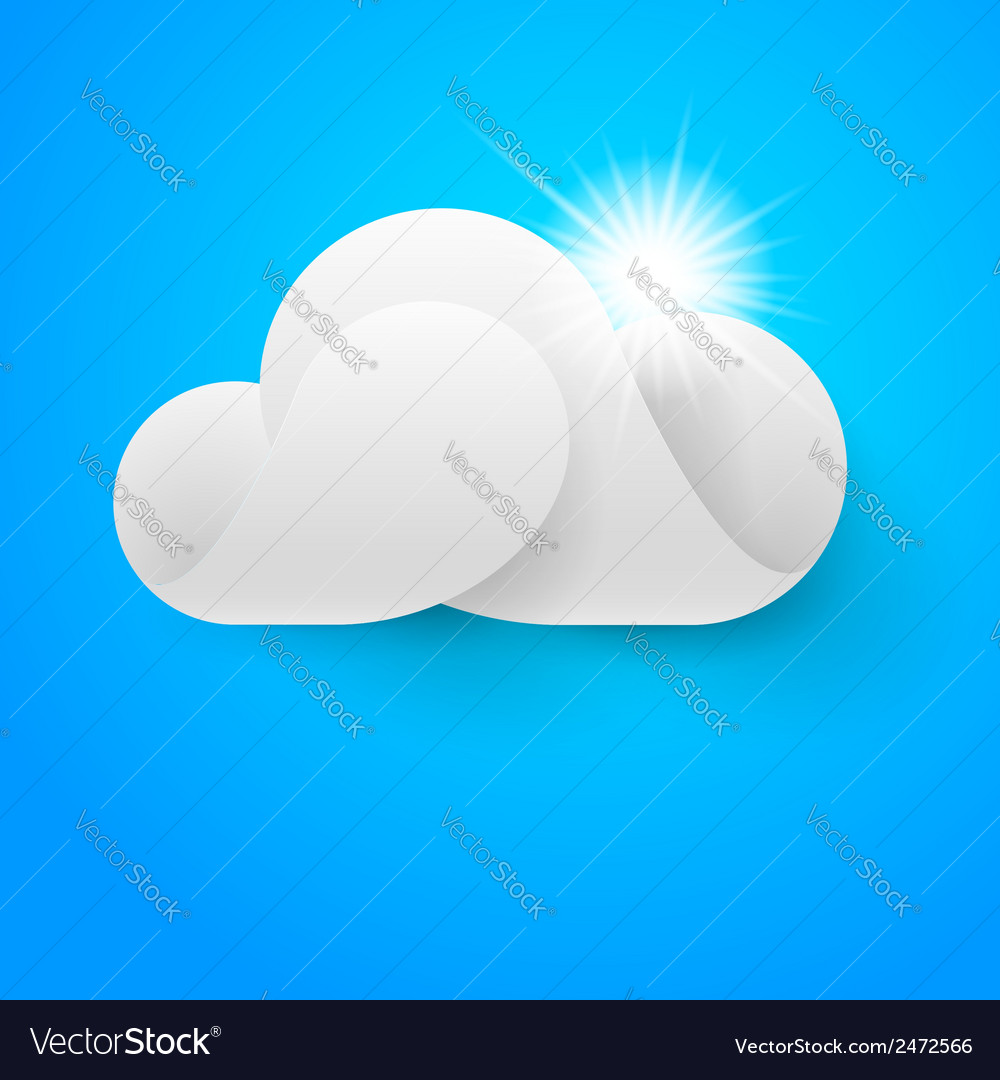 One white cloud on blue sky vector   Price: 1 Credit (USD $1)