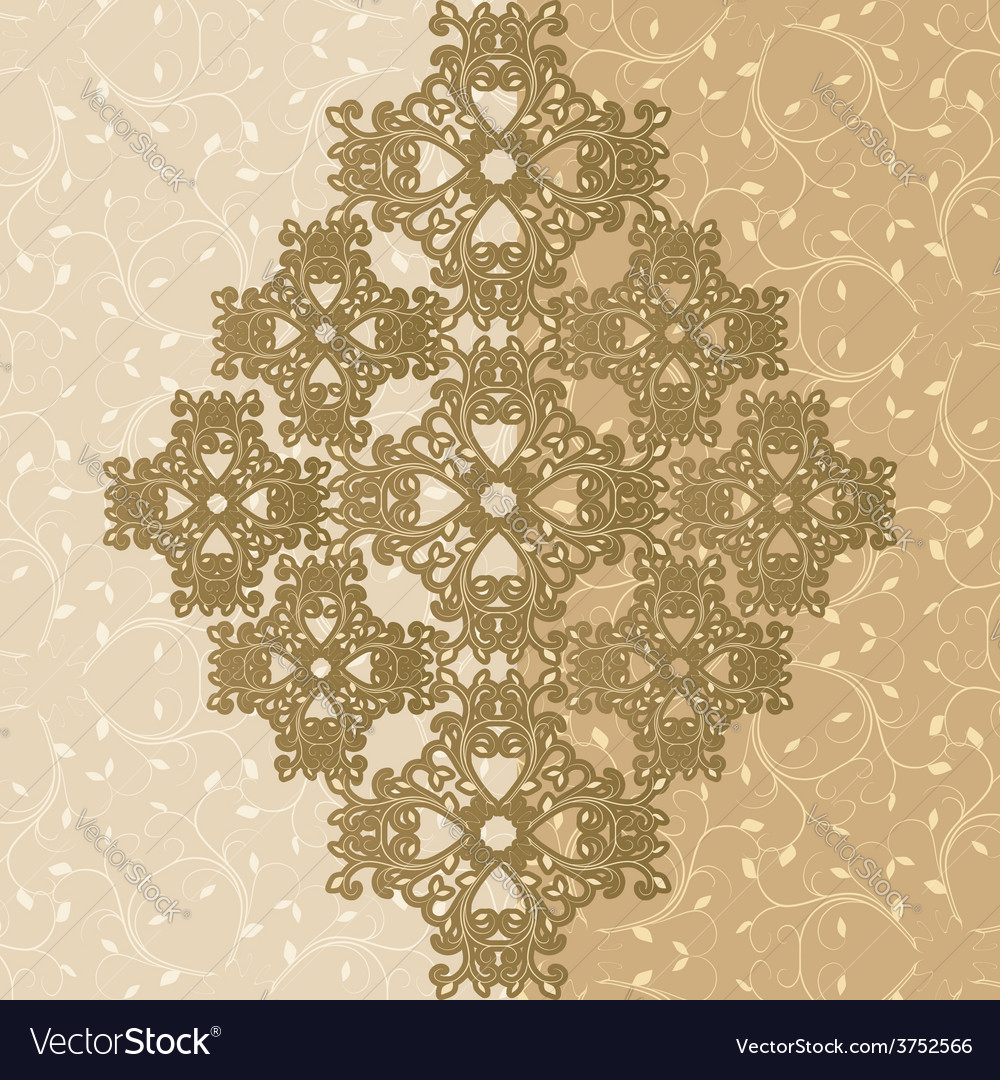 Ornamental greeting card vector | Price: 1 Credit (USD $1)