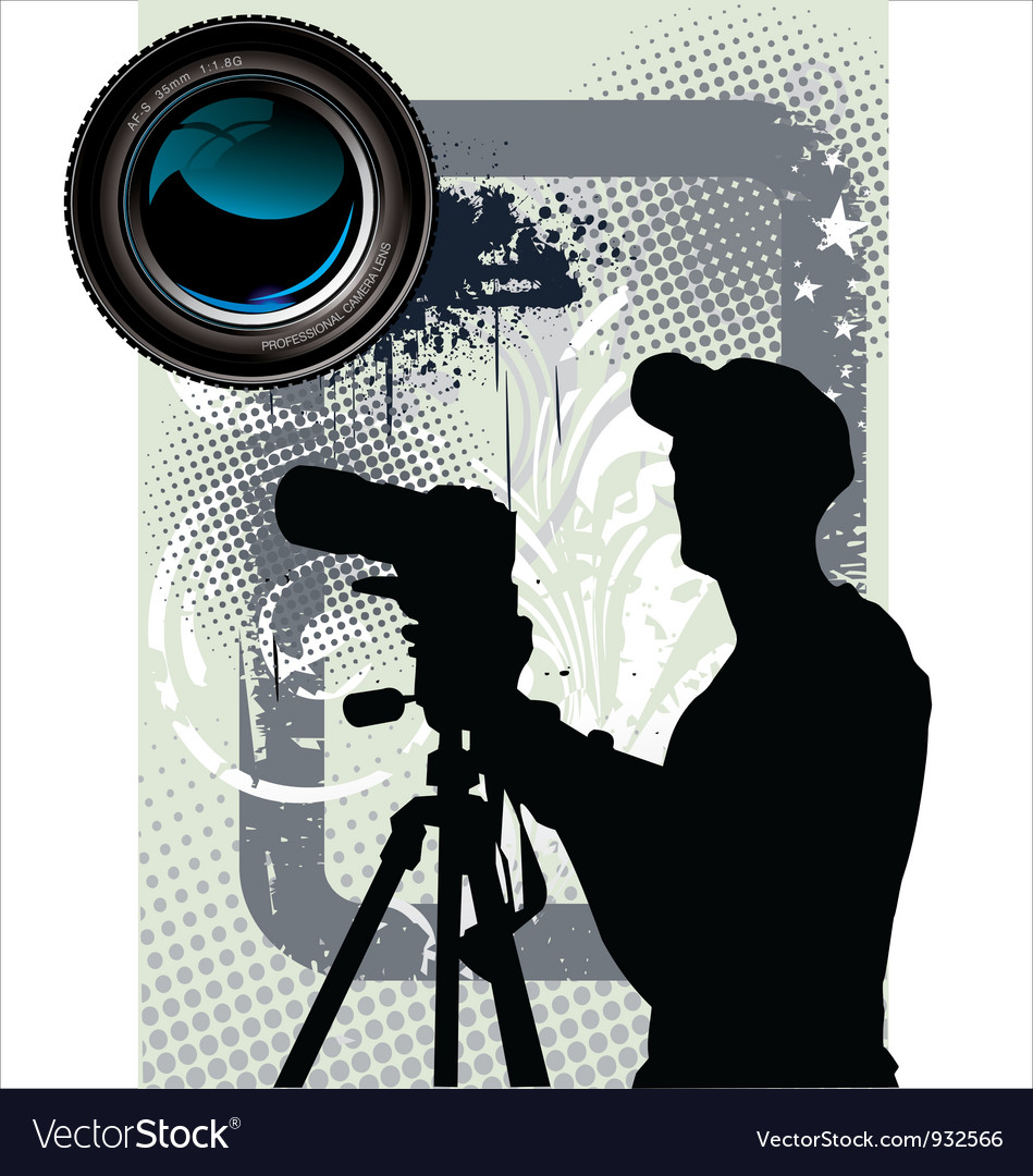 Photographer background vector | Price: 1 Credit (USD $1)