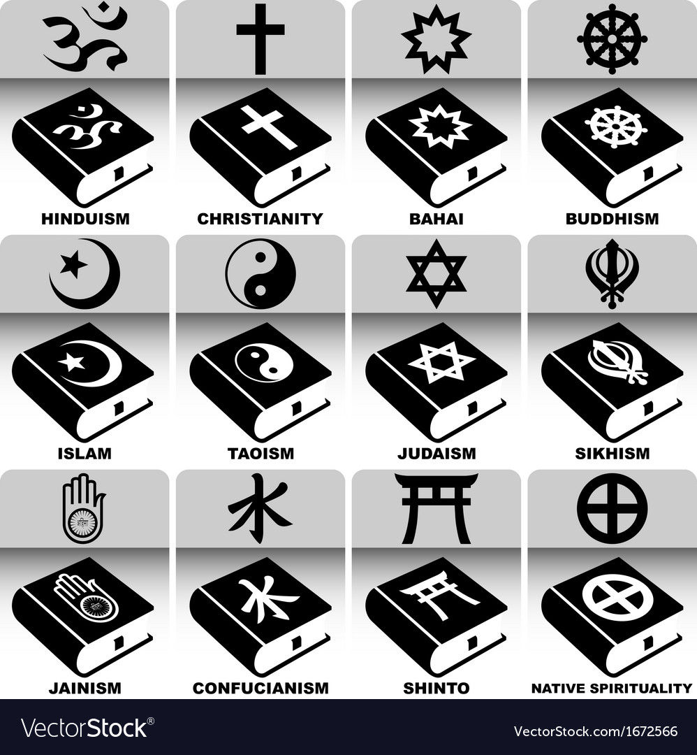 Religions and holy books vector | Price: 1 Credit (USD $1)