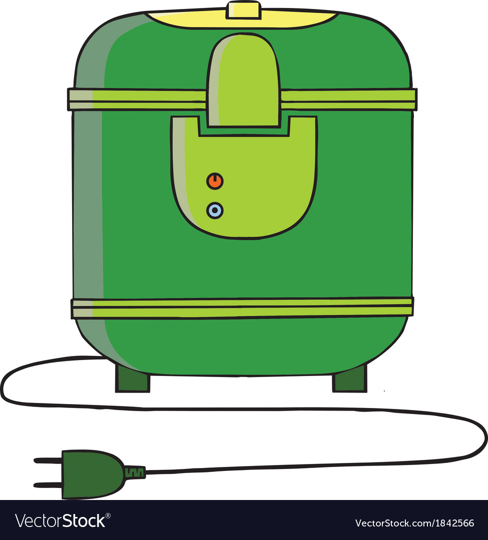 Rice cooker cartoon vector | Price: 1 Credit (USD $1)