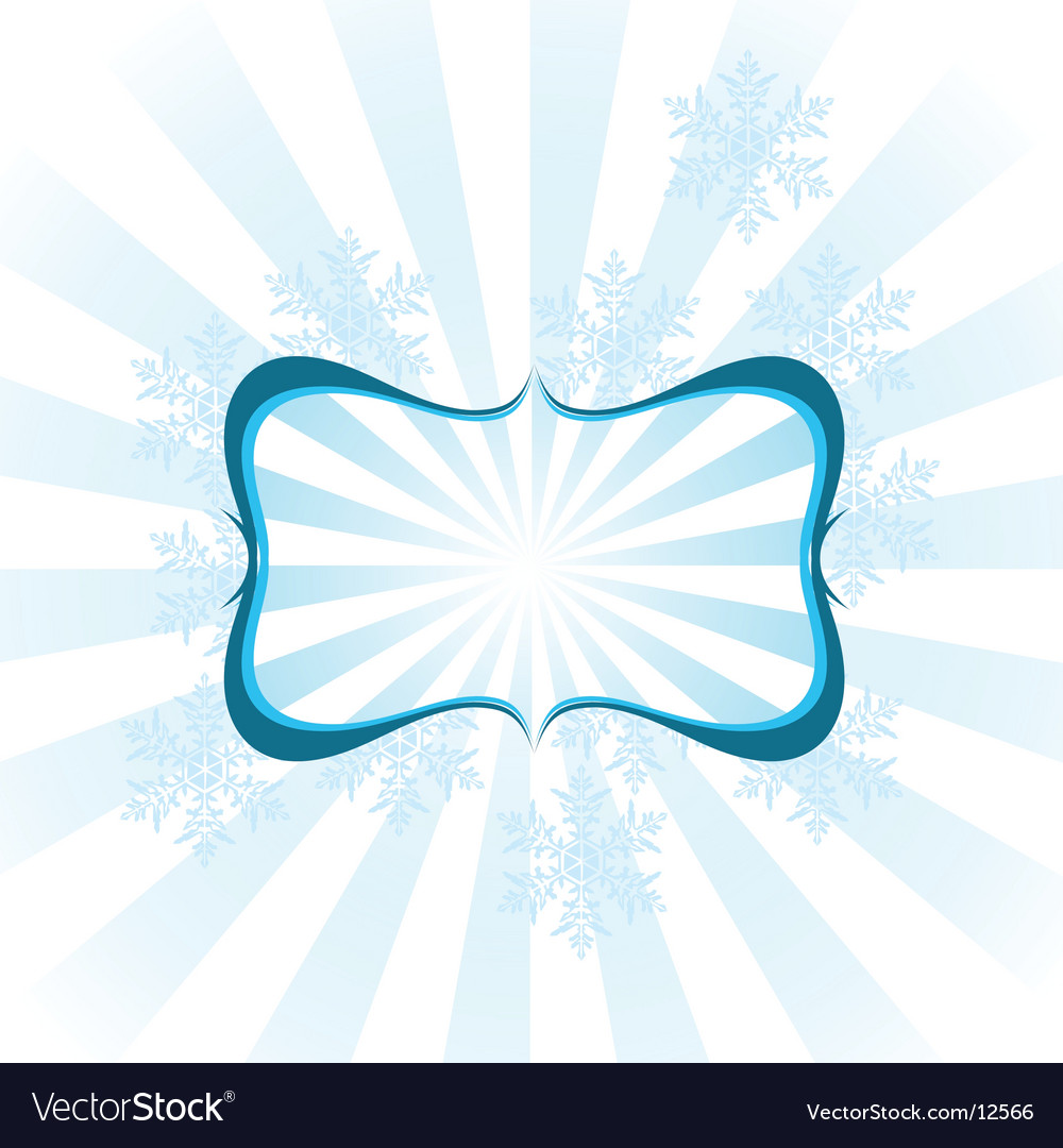 Snowflake design frame vector | Price: 1 Credit (USD $1)