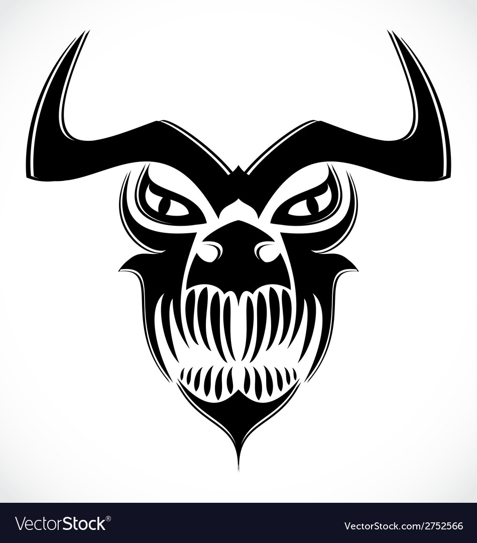 Tribal demon skulls vector | Price: 1 Credit (USD $1)