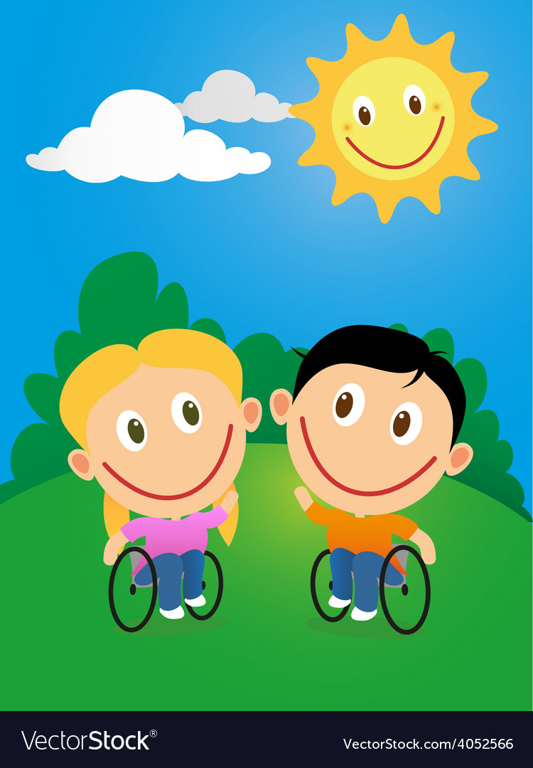Wheelchair children vector | Price: 1 Credit (USD $1)