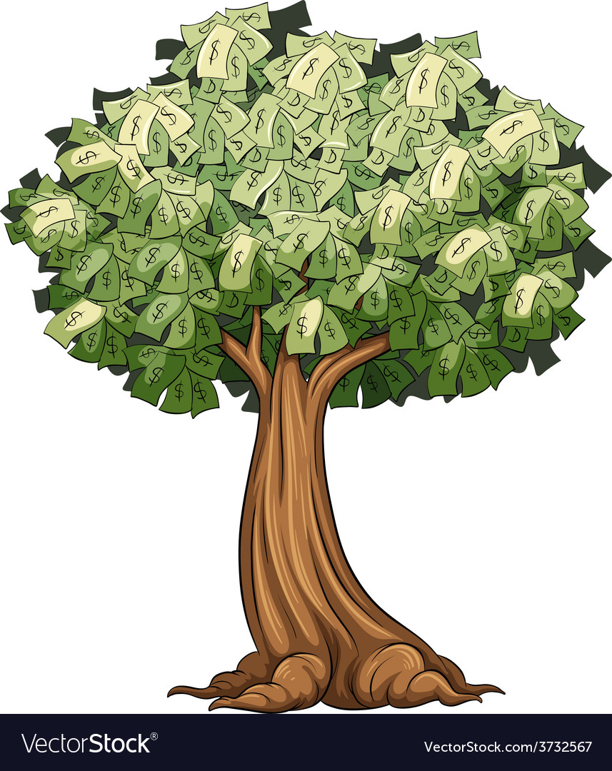 A money tree vector | Price: 1 Credit (USD $1)