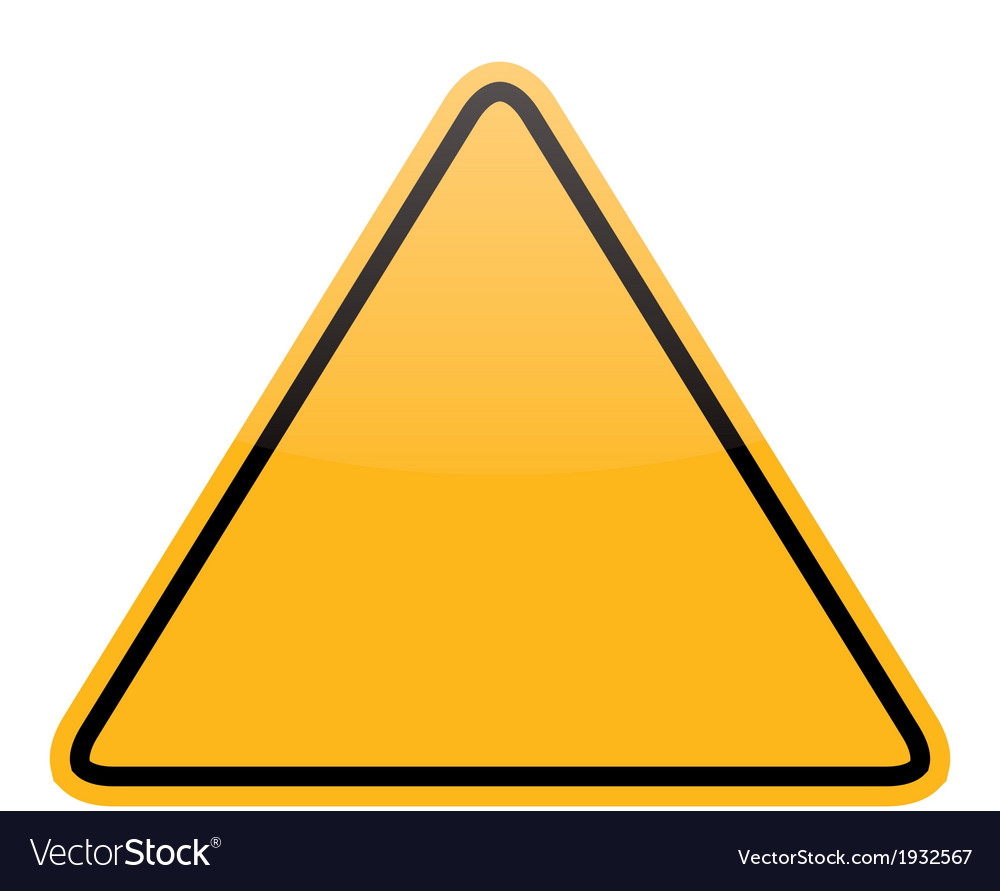 Blank yellow warning sign isolated vector | Price: 1 Credit (USD $1)