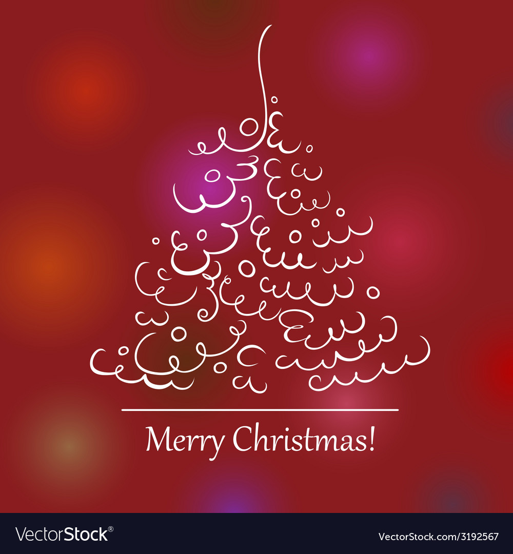 Christmas tree scroll 2 vector | Price: 1 Credit (USD $1)