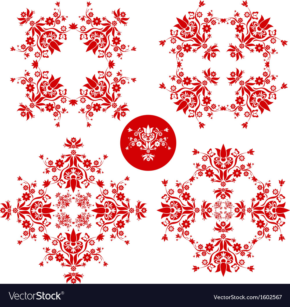 Folk floral decoration vector | Price: 1 Credit (USD $1)