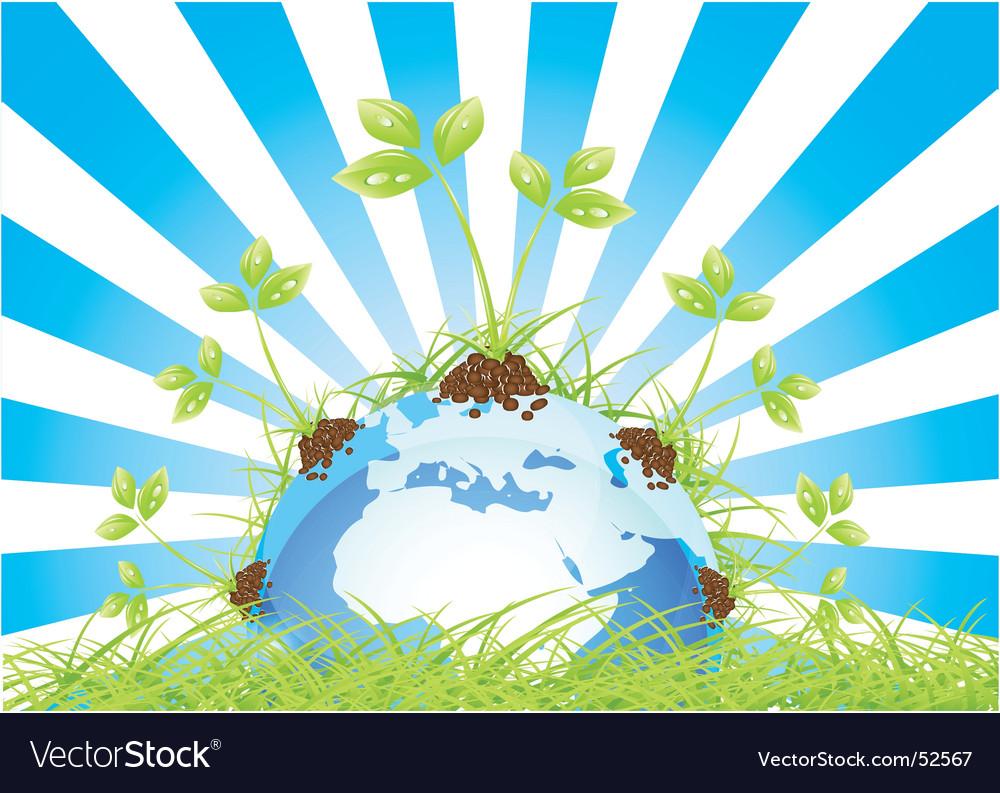Globe grass vector