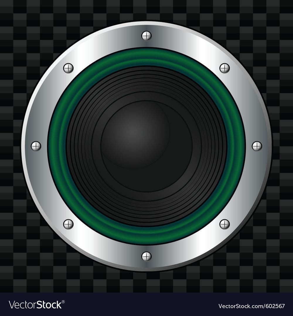 Green speaker vector | Price: 1 Credit (USD $1)